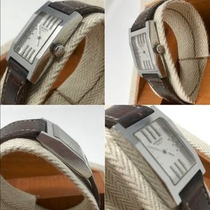 Hermes Accessories - Hermès Silver 2001 Tandem Watch w/White Face